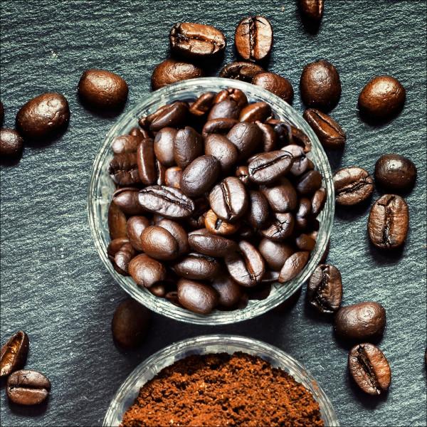 Glas-Bild Life & Coffee II