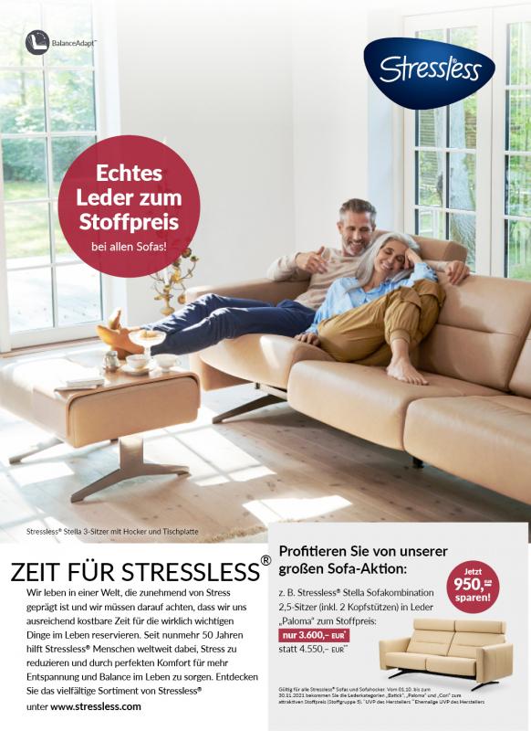 Zeit für Stressless - Sofa-Aktion