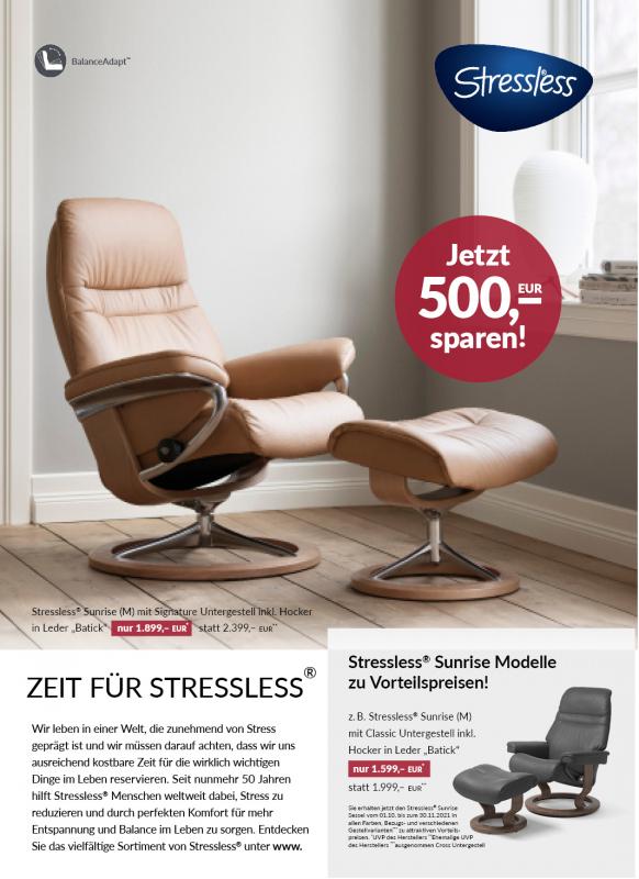 Zeit für Stressless - Jetzt 500€ sparen