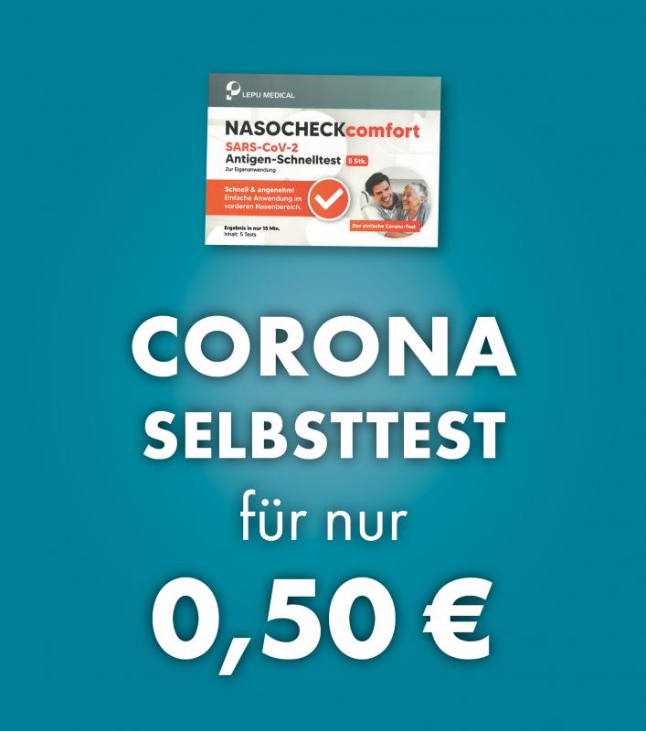 Corona-Selbsttest für nur 0,50 €