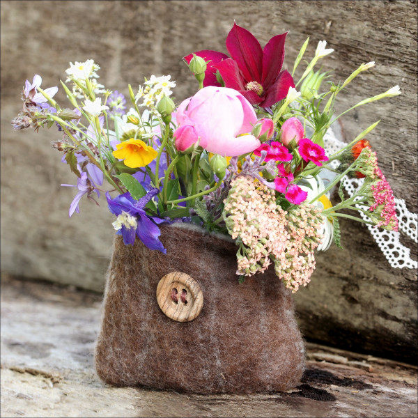 Glas-Bild Flower Bag