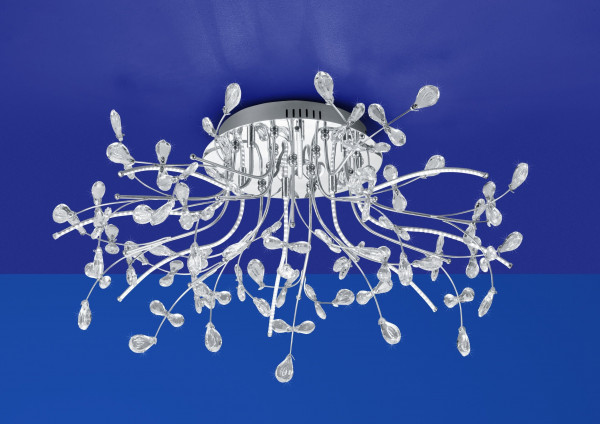 LED-Deckenleuchte Crystal