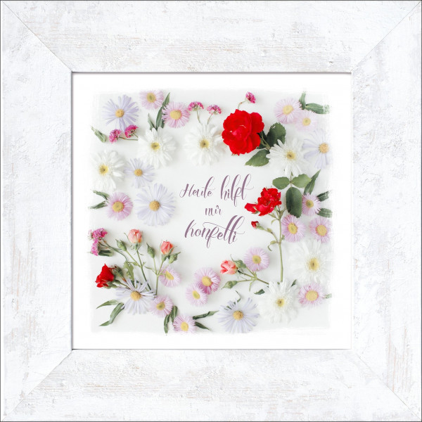 Bild gerahmt Flower Slogan I