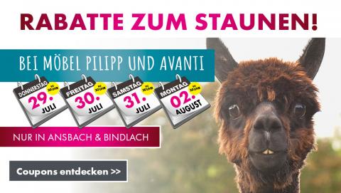Pilipp Coupons in Ansbach und Bindlach