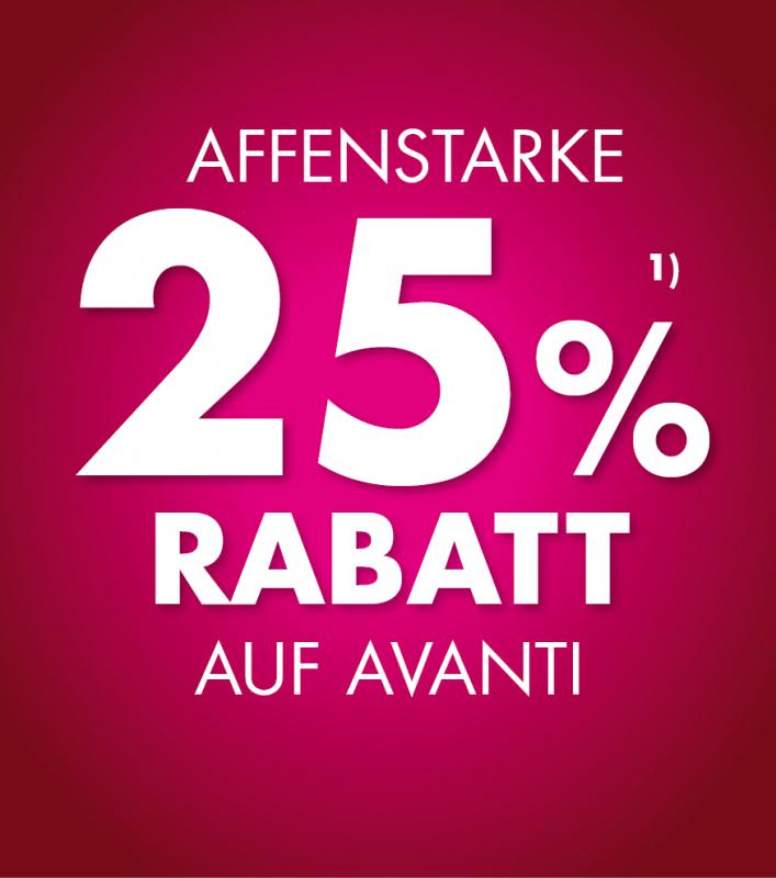 25% Rabatt Avanti
