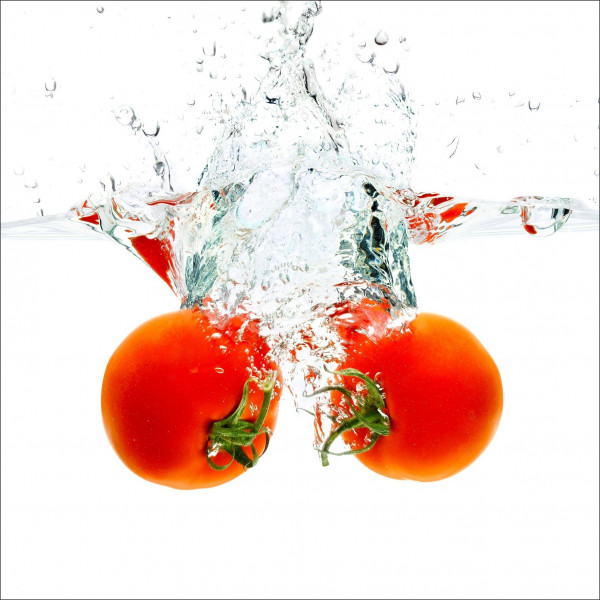 Glas-Bild Fresh Tomatoes