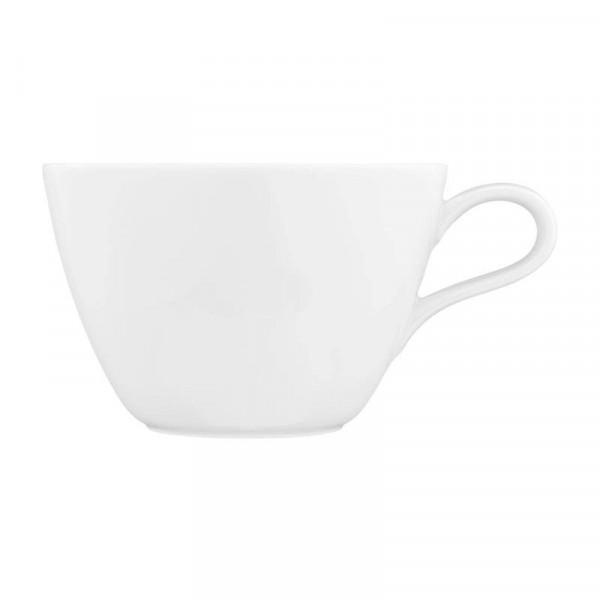 Milchkaffeeobertasse Life - weiß uni