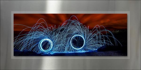 Alu-Bild Dark Fireworks