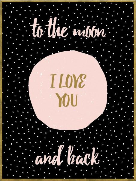 Bild gerahmt I Love You