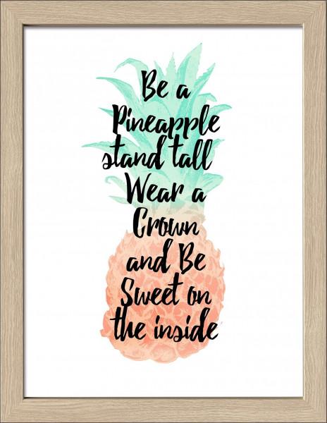 Bild gerahmt Pineapple III