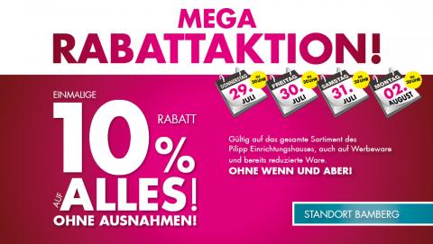10% auf Alles bei Pilipp in Bamberg