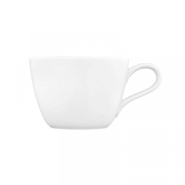 Kaffeeobertasse Life - weiß uni