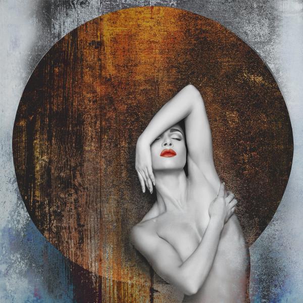 Alu-Bild Woman & Circle