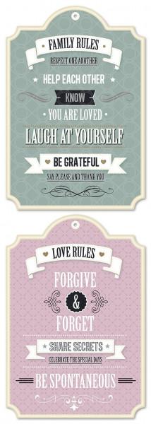 Wandtattoo Family Rules