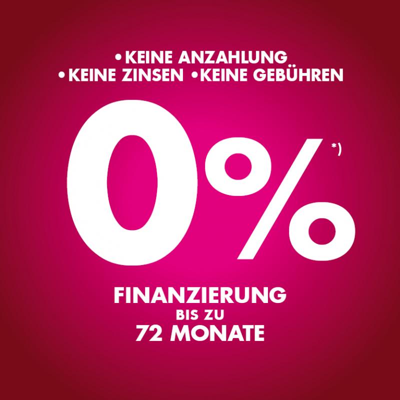 0% Finanzierung bis zu 72 Monate
