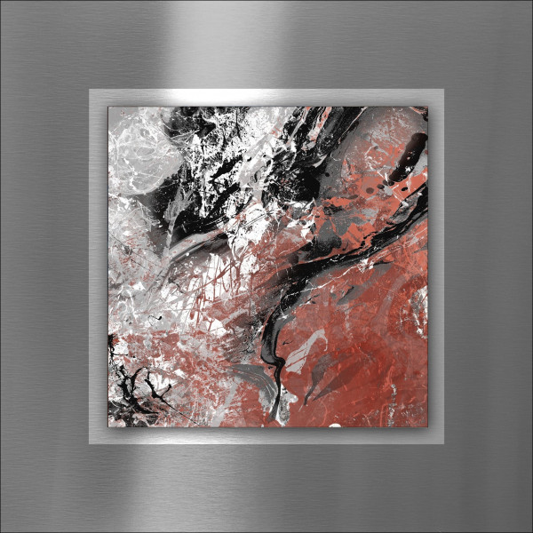 Alu-Bild Black & Red Mix