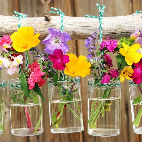 Glas-Bild Plants In Vases II