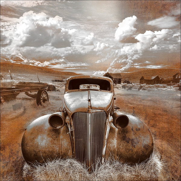 Alu-Bild Lost Car