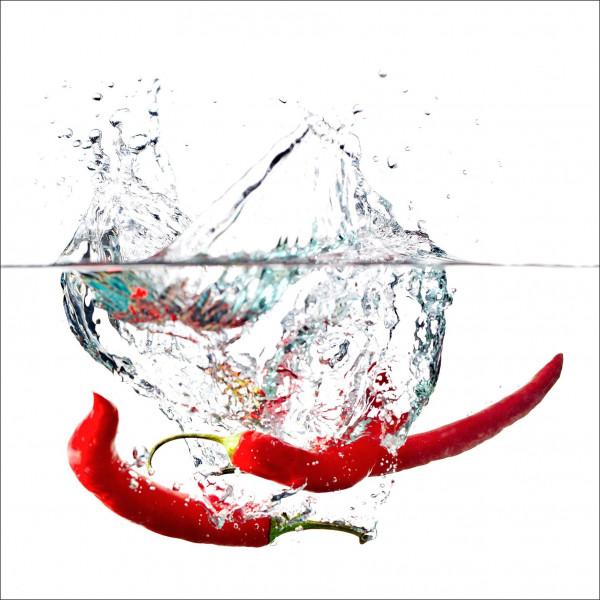 Glas-Bild Fresh Peppers