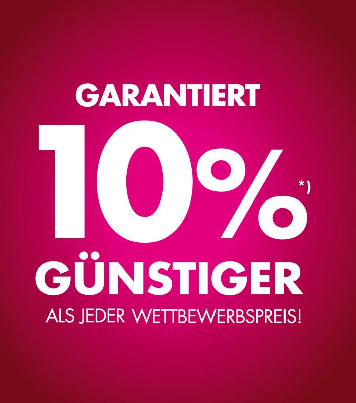 Garantiert 10% günstiger
