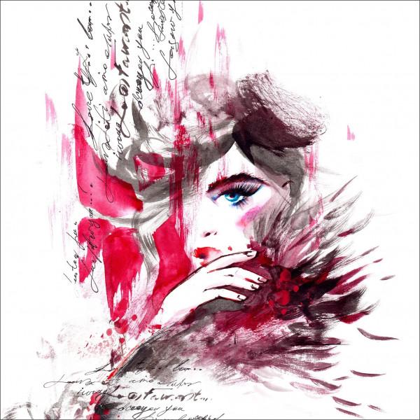 Canvas-Bild Red Woman