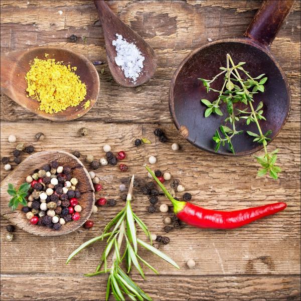 Glas-Bild Herbage In Bowl IV
