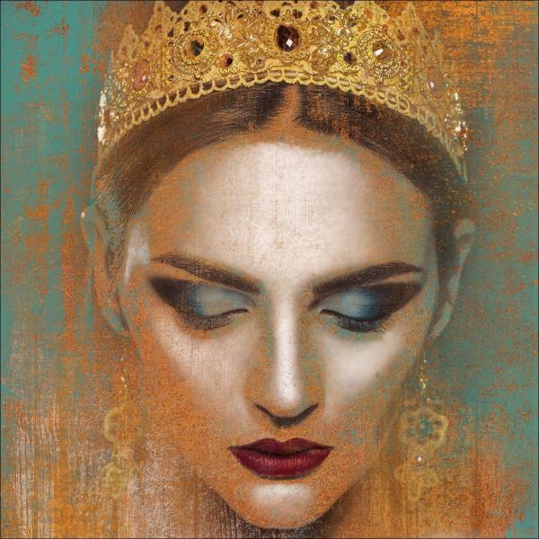 Alu-Bild Woman With Crown