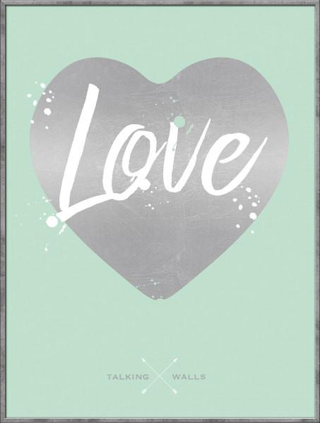 Bild gerahmt Love