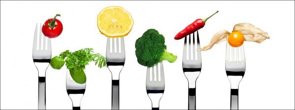 Glas-Bild Vegetable & Fruit