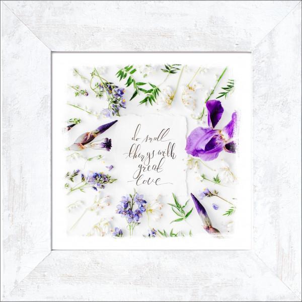 Bild gerahmt Flower Slogan II