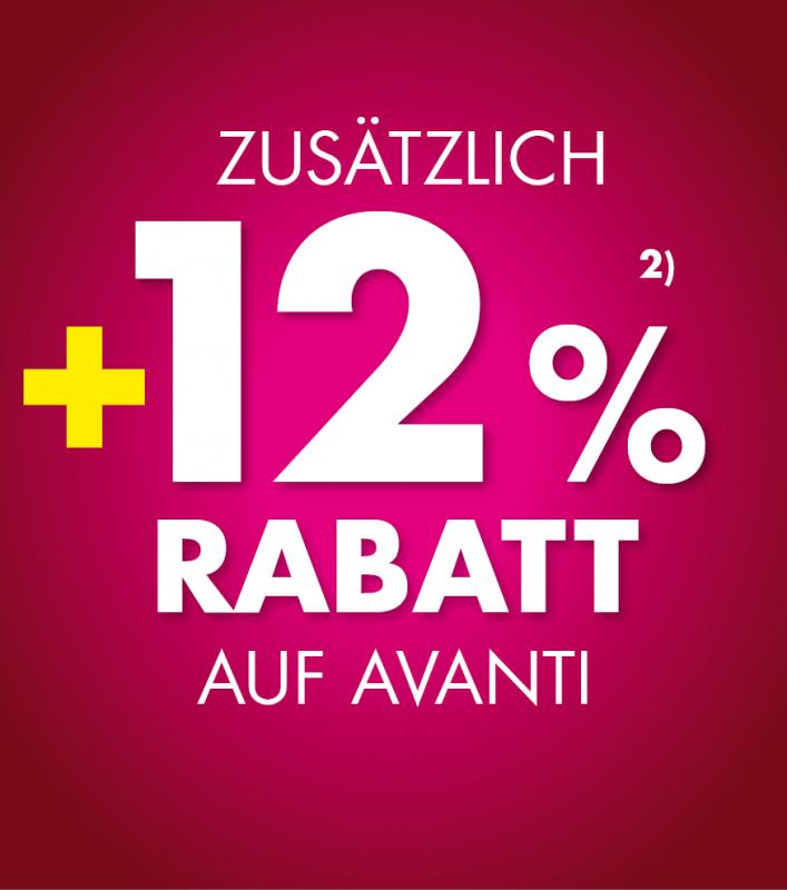 +12% Rabatt Avanti
