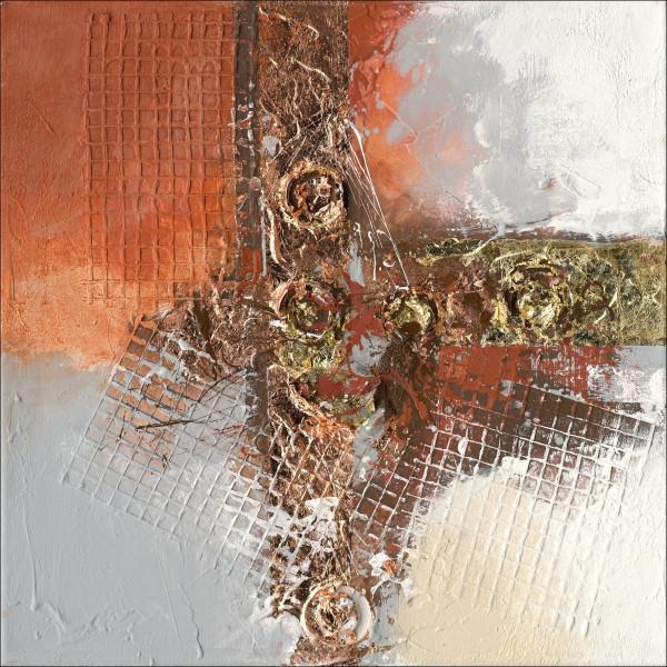 Original-Bild Abstract Orange & Brown I
