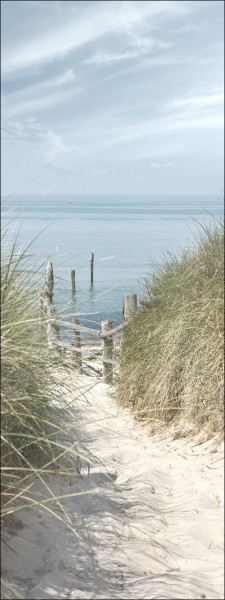 Glas-Bild Strandspaziergang I