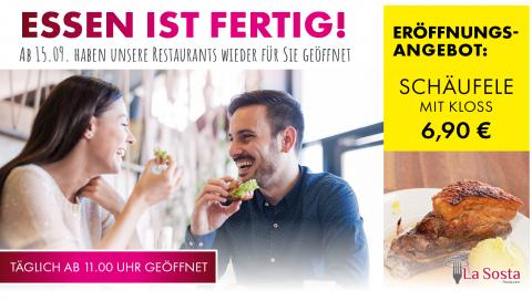 Unser Restaurant in Ansbach öffnet am 15.9.
