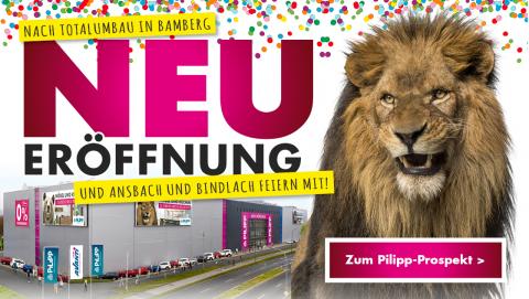 Neueröffnung bei Möbel Pilipp in Bamberg - Aktueller Pilipp Prospekt