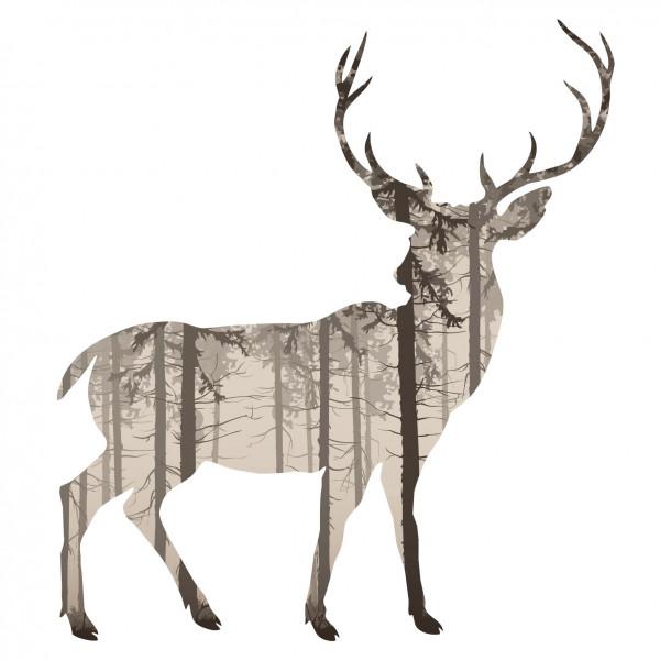 Wandtattoo Hirsch Im Wald
